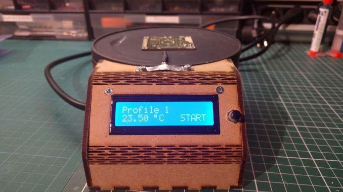 用平底锅和 Arduino 自制回流焊接台