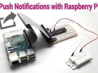 用树莓派给手机发送门锁开关的事件通知