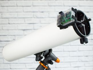 用树莓派和3D打印做成的天文望远镜