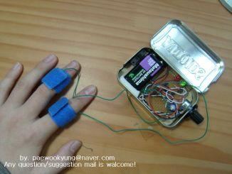 简单电路实现便携手持式测谎仪