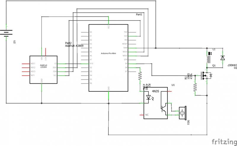 电弧打火机电路图_来DIY一副火爆的装备:火焰喷射拳套 – Arduino 实验室