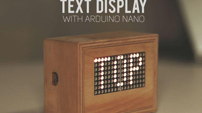 用 Arduino 制造 LED 文字滚动显示器
