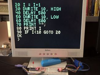 Arduino制作:支持Basic和VGA显示器的复古计算机