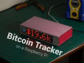 树莓派+点阵制造比特币追踪器