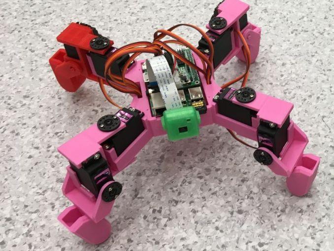 基于树莓派的四足摄像机器人