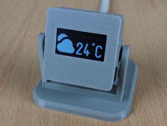 3D 打印的室内温度计,基于 Arduino 和 OLED 屏幕