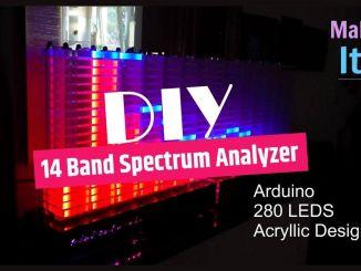 Arduino + 280 LEDs DIY 音乐频谱灯