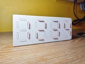 纯机械的七段数字显示器