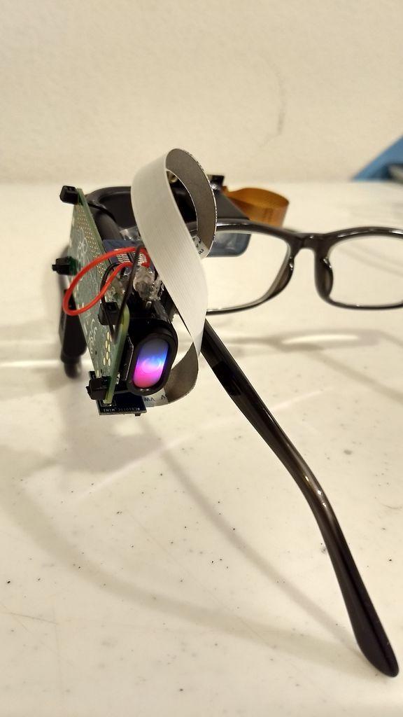基于树莓派和 Vufine 屏的谷歌眼镜